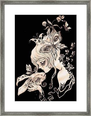 .alice Dreaming. Framed Print by Megan Darrough