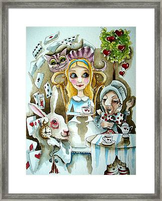 Alice In Wonderland 1 Framed Print by Lucia Stewart