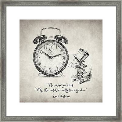 Alice In Wonderland Quote Framed Print by Taylan Soyturk