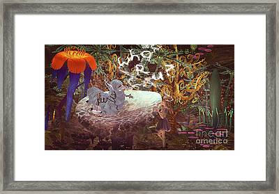 Alice N The Hookah Caterpillar Framed Print by Methune Hively