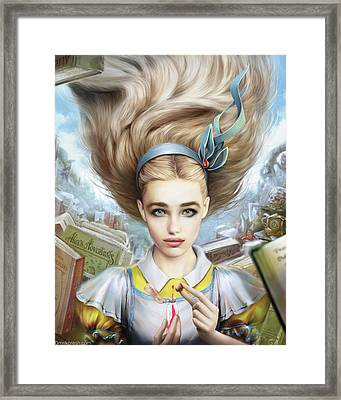 Alice Framed Print by Omri Koresh