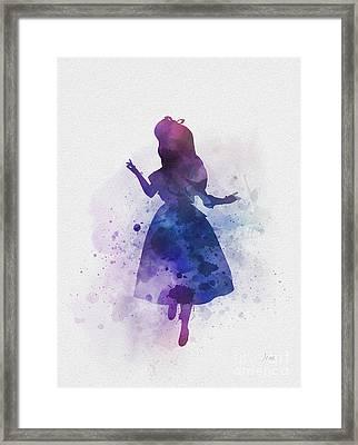 Alice Framed Print by Rebecca Jenkins