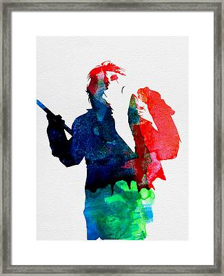 Alice Watercolor Framed Print by Naxart Studio