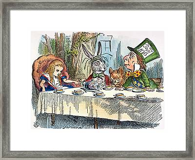 Alices Mad-tea Party, 1865 Framed Print by Granger