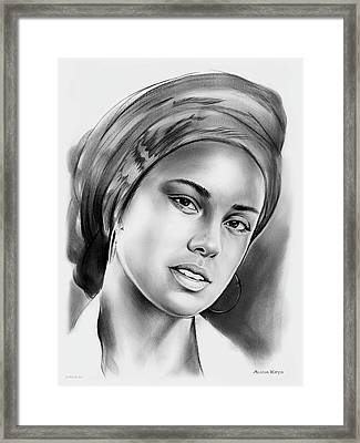 Alicia Keys 2 Framed Print by Greg Joens