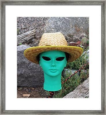 Alien Farmer Framed Print by Joseph R Luciano