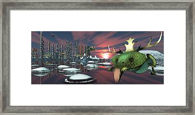 Alien Planet Framed Print by Mary Almond