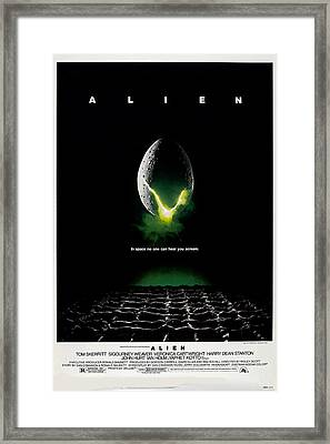 Alien, Poster Art, 1979 Framed Print by Everett