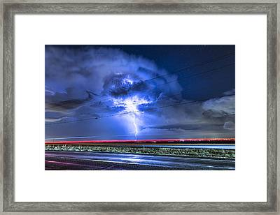 Alien Power Line Explosion Framed Print by James BO  Insogna