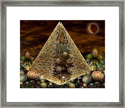 Alien Pyramid Framed Print by Peggi Wolfe