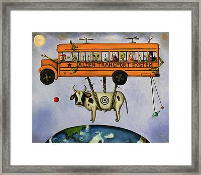 Alien Transport System Framed Print by Leah Saulnier The Painting Maniac