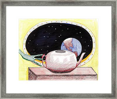 Aliens View Framed Print by Jose Valeriano