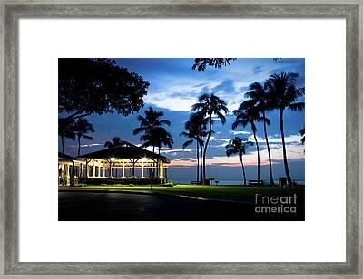 Alii Kahekili Nui Ahumanu Beach Park Hanakaoo Kaanapali Maui Hawaii Framed Print by Sharon Mau
