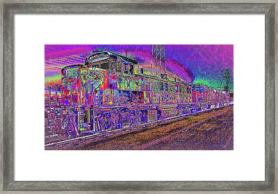 All Aboard To The Groovy Side Framed Print by Kenneth James