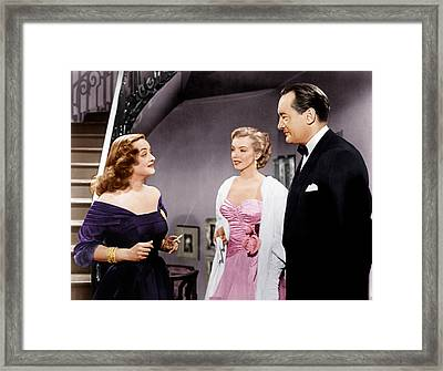 All About Eve, From Left Bette Davis Framed Print by Everett