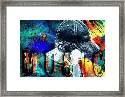 All About The Music Framed Print by Pennie  McCracken