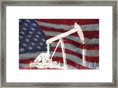 All American Oil Pump Jack Framed Print by JC Findley