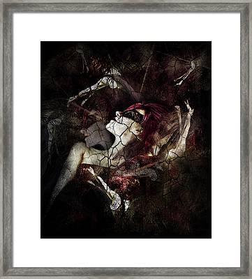 All Dolls Get Broken Framed Print by Spokenin RED