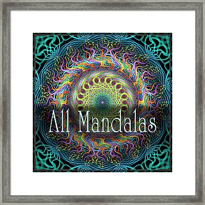 All Mandalas Framed Print by Becky Titus