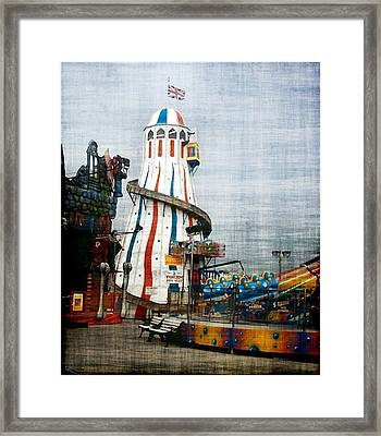 All Quiet On The Pier Framed Print by Susan  Epps Oliver
