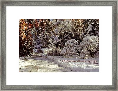All Roads Lead Home Framed Print by Sabine Jacobs