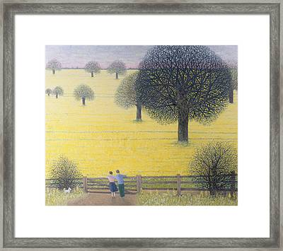 All That Yellow  Framed Print by Pat Scott