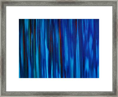 All The Lonely People Number One Rainy Downtown Crosswalk Framed Print by Brian Broadway
