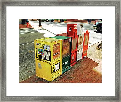 All The News That Is Fit To Print Framed Print by Jame Hayes