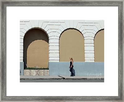 All The Worlds A Stage Framed Print by Joe Jake Pratt