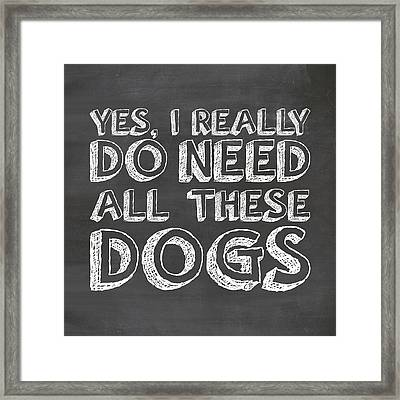 All These Dogs Framed Print by Nancy Ingersoll