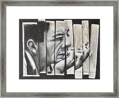 All Together Johnny Cash Framed Print by Eric Dee
