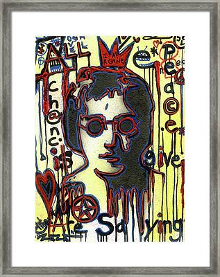 All We Are Saying Framed Print by Robert Wolverton Jr