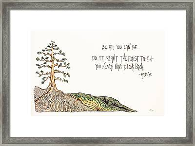 All You Can Be. Framed Print by Kelly Morgan