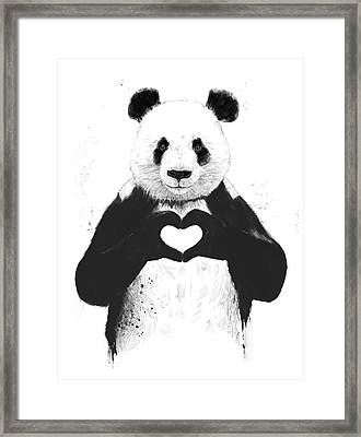 All You Need Is Love Framed Print by Balazs Solti