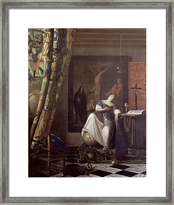 Allegory Of The Faith Framed Print by Jan Vermeer