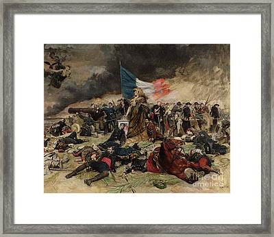 Allegory Of The Siege Of Paris Framed Print by Jean Louis Ernest Meissonier