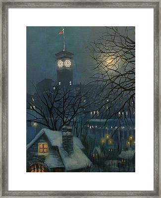 Allen Bradley Clock Milwaukee Framed Print by Tom Shropshire