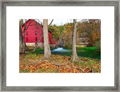 Alley Spring Mill Framed Print by Jackie Novak