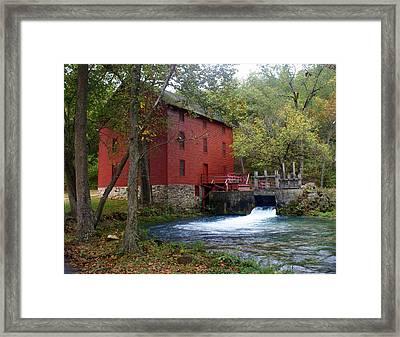 Alley Sprng Mill 3 Framed Print by Marty Koch