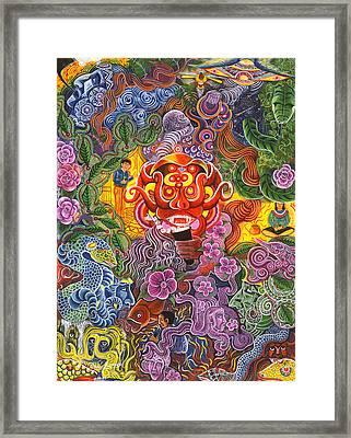 Allpa Manchari Framed Print by Pablo Amaringo