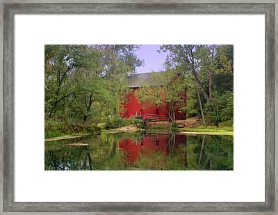 Allsy Sprng Mill 2 Framed Print by Marty Koch