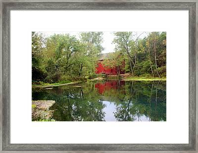 Allsy Sprng Mill Framed Print by Marty Koch
