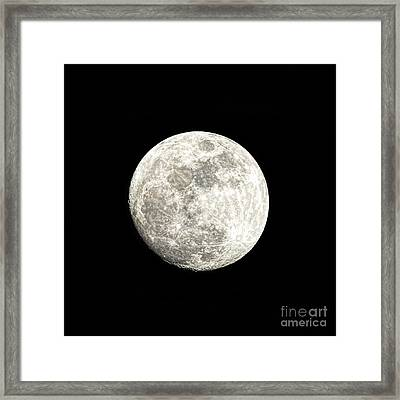 Almost A Full Moon Framed Print by Sharon McConnell