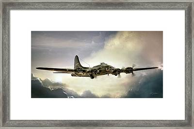 Almost Home Memphis Belle Framed Print by Peter Chilelli