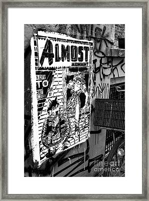 Almost Midnight Mono Framed Print by John Rizzuto