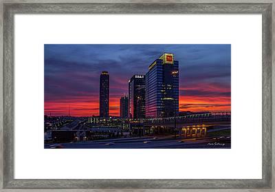 Almost Night Atlanta Midtown Cityscape Art Framed Print by Reid Callaway