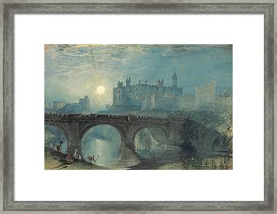 Alnwick Castle Framed Print by Joseph Mallord William Turner