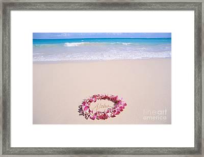 Aloha Framed Print by Mary Van de Ven - Printscapes
