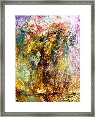 Alone In Autumn Painting Framed Print by Amy Drago
