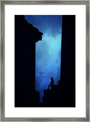 Alone In The City- Edinburgh Framed Print by Cambion Art
